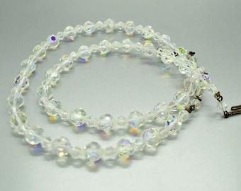 Aurora Borealis Glass Bead Necklace