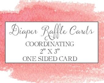 Diaper Raffle for Baby Shower Cards - Print Option