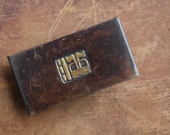 Vintage ink blotter, Arts & Crafts Era ink blotter, Vintage desk accessories, Brass ink blotter, Office supplies, Calligraphy supplies