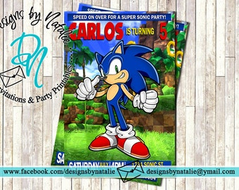 Sonic The Hedgehog Invitation