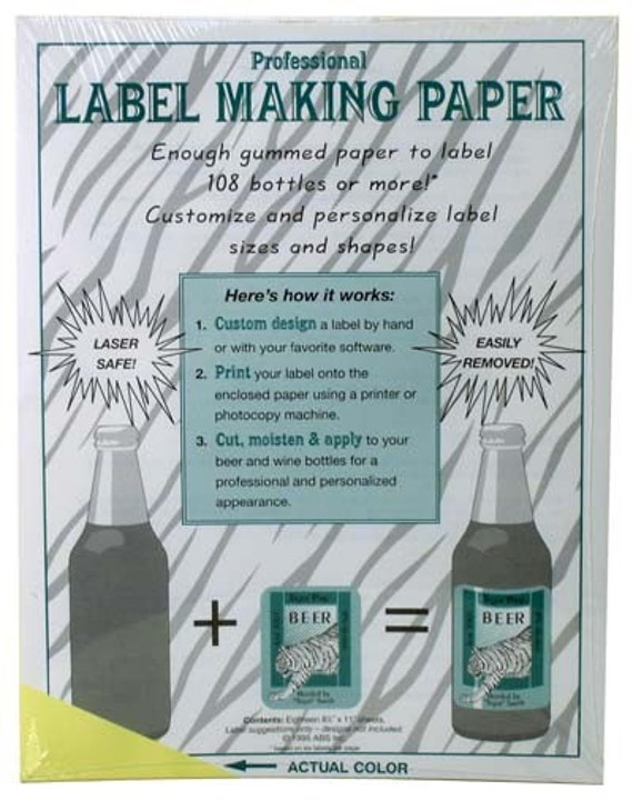 Yellow Label Making Paper to Make Custom Labels For Your Home Brew
