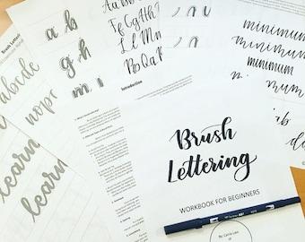 Brush Lettering Workbook for Beginners