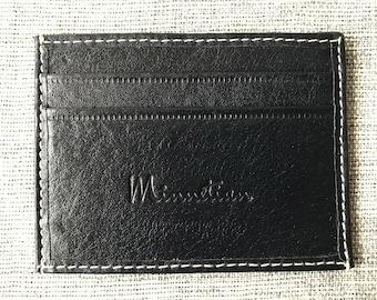 Black High Quality Slim Minimal Elegant Leather Wallet