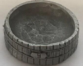 Pewter miniature bowl