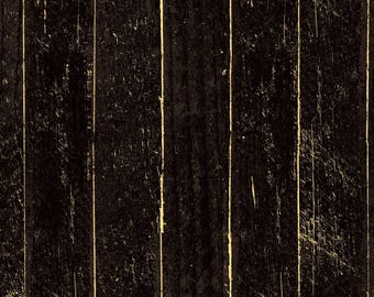 Black Wood Boards Fabric-Jeepers Kreepers-Clothworks-Halloween Fabric-Black Wood Fabric-Black Wood Fabric-Board Fabric-Rustic Wood Fabric