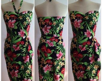 "28"" Waist - Vintage inspired hawaiian dress"