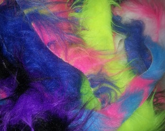 Faux Fur SCRAP BAG - Various Sizes and options Free Shipping in USA Great for diy Projects fake fur soft monster spiked multicolor vegan fur