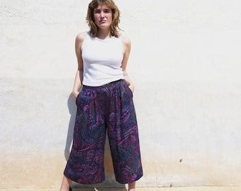Vintage patterned culottes