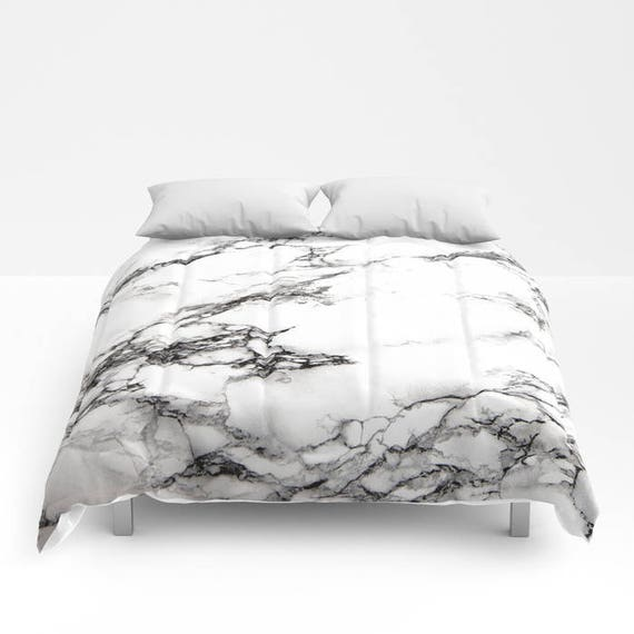 Black White Marble Duvet Cover Or Comforter Bedspread Twin