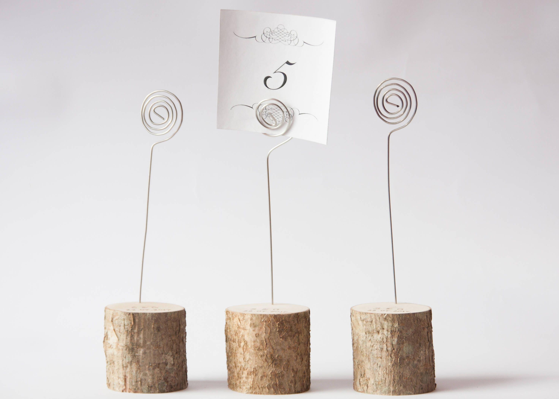 5 rustikale Hochzeit Tisch Nummerninhaber mit Draht
