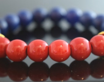 Red and Blue Bracelet /  Energy Bracelet /  Summer / Gift Idea /
