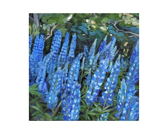 Blue Lupines by the Woods