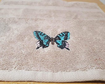 Embroidered Butterfly Face Cloth