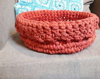 Crochet Orange Basket