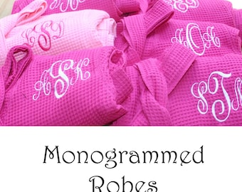 12 Personalized Bridesmaids Robes, Set of 12 ,Monogrammed Robe, Waffle Robe, Personalized Bridesmaid Gifts