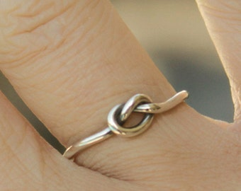 Silver Love Knot Silver Ring