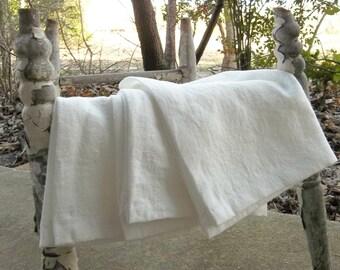 3 Linen Towels Handmade Fingertip Towels Oversized Linen Napkins Custom Fabrics Linen Tea Towels  French Country Farmhouse 16 x 19
