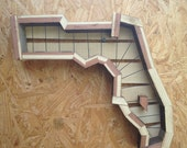 READY TO SHIP Vertical Planter Florida State Shaped Perfect for Succulents