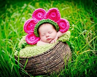 Newborn Baby Girl Photo Prop Flower Hat