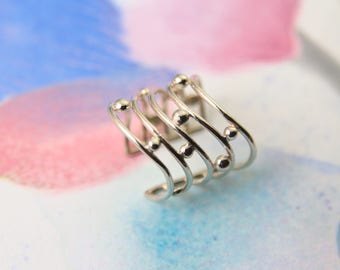 Sterling Silver Ring / Circle / Adjustable