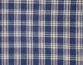Blue Plaid Fabric   Cotton Fabric   Homespun Fabric   Craft Fabric   Home Decor Fabric   Cotton Rag Quilt Fabric   Navy Basic Plaid Fabric