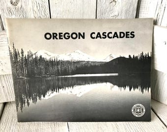 Vintage USFS pamphlet map Oregon Cascades National Forest guide 1968