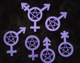 3D Printed Pagan Gender bulk pack!