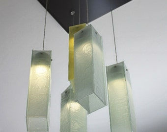 Lighting and more fused glass items by ramizglass on etsy fused glass pendant lights chandelier lighting hanging ceiling lights pendant lighting ceiling aloadofball Gallery