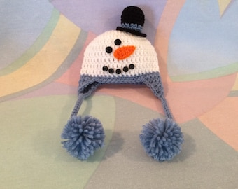Baby Snowman Hat with Top Hat