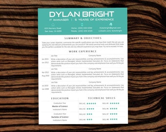 SALE! RESUME TEMPLATE - Instant Download - Microsoft Word - Resume & Cover Letter Word Template - Designed Resume - cv template
