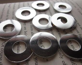 10 TUMBLED Aluminum 1 Inch Washers