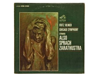 Also Sprach Zarathustra, Richard Strauss, Chicago Symphony, Vintage 60s Long Play, Vinyl Record, Long Playing Record, Classical Music Album