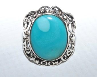 Sterling Silver Sleeping Beauty Ring Sz 9.25 #5511