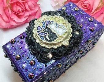 Luna and Artemis Galaxy Jewelry/Music Box