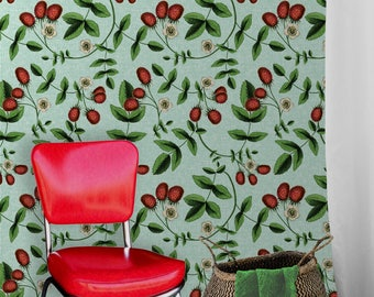 Vintage Berry • Easy to Apply Removable Peel 'n Stick Wallpaper
