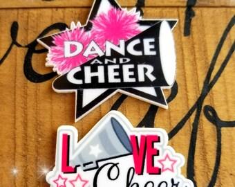 Cheer resins, cheerleaders ribbon, cheerleaders centers,  cheer planar, cheerleaders, cheer embellishements