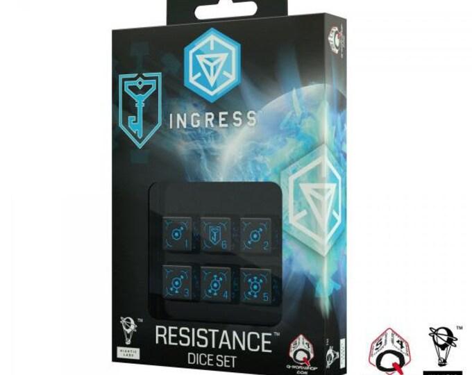 Ingress 6D6 Dice Set: Resistance (6)  - Q-Workshop
