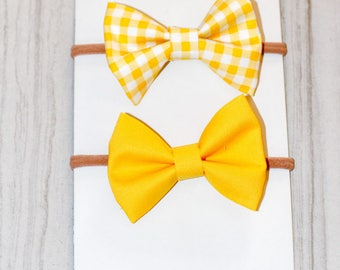 Spring Sunshine Bows, Yellow