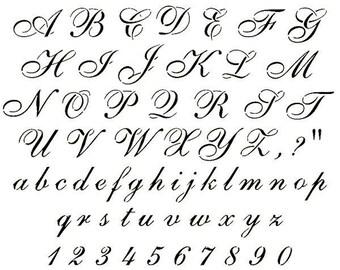 stencils crafts templates scrapbooking cursive alphabet stencil a4 mylar