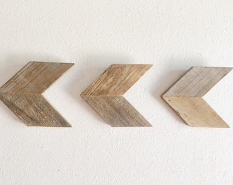 Wood Arrows - Reclaimed Wood -Arrow Wall Decor - Be Brave - Rustic Wall Art - Arrow Set - Wall Arrows - Follow Your Arrow