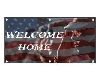 Welcome Home Banner - Military Banner - Military Homecoming - Deployment Homecoming Sign - Welcome Home Military