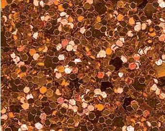 Glitter Fabric. Metallic Orange. A4 sheet. JR04961