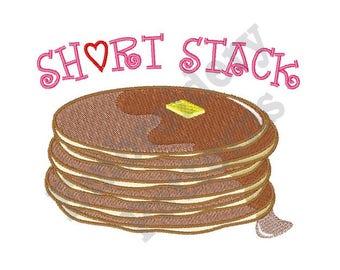 Pancake Short Stack - Machine Embroidery Design