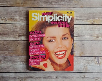 New Simplicity Sewing Book 1979 Sewing Guide Vintage Sewing How To Simplicity Large Magazine Teen Sewing Book Sewing Beginner Tips Stitching