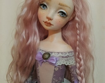 "OOAK Art Doll, "". Lola"" , boudoir doll, movable doll, home decor"
