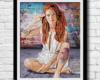 """Ygritte """"Bang Bang"""" Portrait, (Inked: Gang of Thrones), Game of Thrones"""