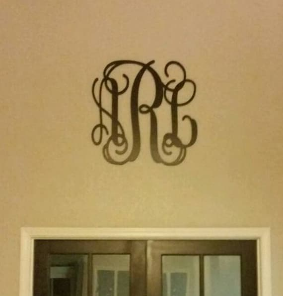 Large Wooden Monogram Initials Painted Wood Monogram Wall