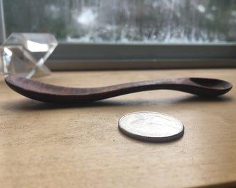 wooden walnut baby spoon