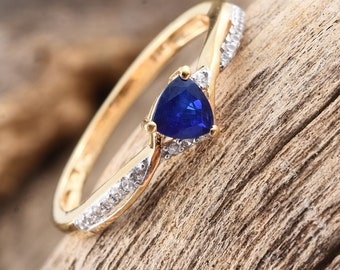 Blue Spinel Ring - Size 10