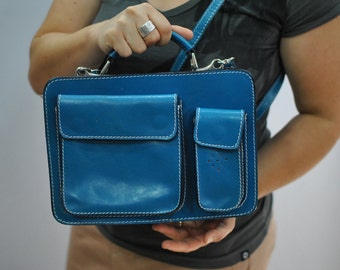 Vintage HANDMADE leather bag , cross body bag , messenger bag ....(330)